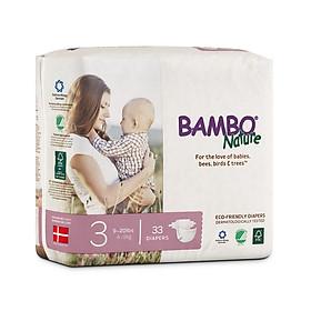 Thùng Tã Dán Em Bé Hữu Cơ Bambo Nature - gốc Đan Mạch - 4-9kg - M33 - 6 gói-3