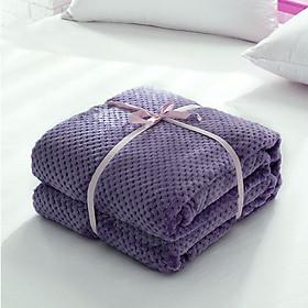 Throw Blanket Bed Blanket Reversible Pineapple Tartan Microfiber Flannel Keep Warm Bedcover