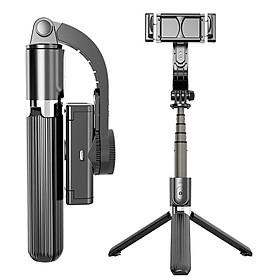 Gậy tự sướng chống rung L08 kiểu gimbal tripod dùng cho điện thoại, selfie chụp ảnh bằng remote Bluetooth 4.0 - Hàng chính hãng