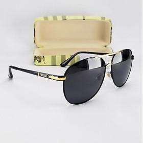 Mắt kính mát nam DKY742D tròng Polarized màu đen phân cực, chống nắng, chống tia UV. Gọng kim loại không gỉ