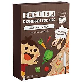 Bộ 30 Thẻ Học (Flashcards) Thông Minh Song Ngữ Tiếng Anh Phiên Âm chuẩn CAMBRIDGE - Chủ đề : Các loại rau củ ( cho bé 3 - 10 tuổi), Chất liệu giấy Ivory cao cấp