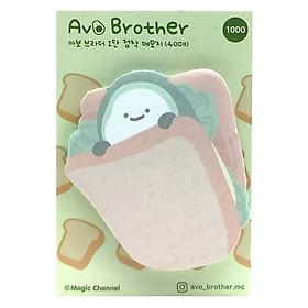 Giấy Ghi Chú Magic Chanel Hình Bơ 2 - Bánh Sandwich