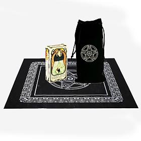 Combo Bộ Bài Bói Tarot Ethereal Visions Illuminated Tarot Deck Cao Cấp New và Túi Nhung Đựng Tarot và Khăn Trải Bàn Tarot