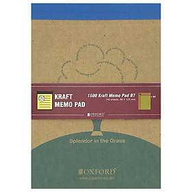 Sổ Bìa Giấy Kraft B7 140'S - Oxford ALP02115 - Màu Xanh Dương