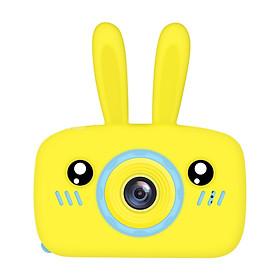 Máy ảnh trẻ em HD 1080P 12 Megapixels màn hình lớn 2.0 inch hình chú thỏ hoạt hình dễ thương dành cho bé trai bé gái