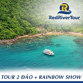 [Phú Quốc] Tour 2 Đảo - Thưởng Thức Rainbow Show - Lặn Ngắm San Hô - Bãi Sao, Bao Gồm Bữa Trưa Nhà Hàng Nổi, Xe Đón Tận Nơi Trung Tâm Dương Đông (Lựa Chọn Thêm: Lặn Bình Khí, Đi Bộ Dưới Biển Seawalker)