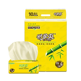 10 Packs Bamboo Pulp Facial Tissues Eco-Friendly Recycled Paper Home Use Soft Dinner Napkins