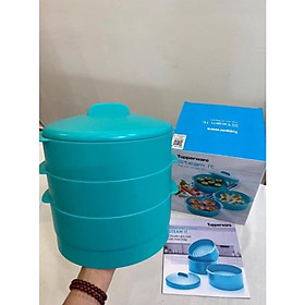Xửng hấp Steam It Paradise Blue 3 tầng Tupperware