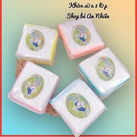 Khăn sữa xô 3 lớp (set 10 cái)