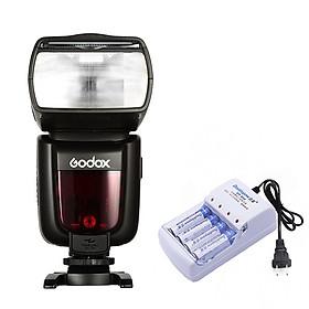 Đèn Flash Godox TT685C Cho Canon Tặng Kèm Bộ Pin Sạc - Hàng Nhập Khẩu