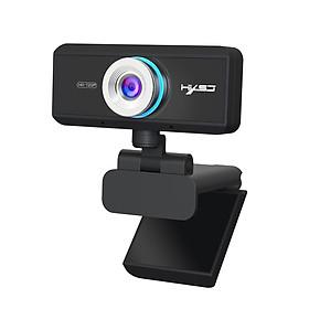 Webcam HXSJ S90 HD 720P  USB3.0 2.0 Có Thể Điều Chỉnh 360° Kèm Mic Cho Cuộc Gọi Video - Hàng Chính Hãng