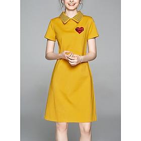 Đầm Dáng Suông Nữ Cá Tính Kiểu Đầm Suông Cổ Bẻ Sọc - THỜI TRANG CÔNG SỞ NỮ GOTI 3278D