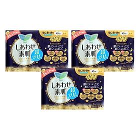 Combo 3 gói Băng Vệ Sinh Ban Đêm Laurier Happy Skin Siêu Mỏng Cánh [40cm-9M]