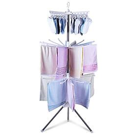 Giá phơi đồ 3 tầng giàn phơi quần áo sơ sinh gấp gọn tiện ích