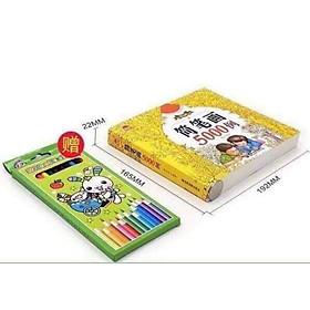 Bộ tập tô cho bé kèm hộp bút chì màu
