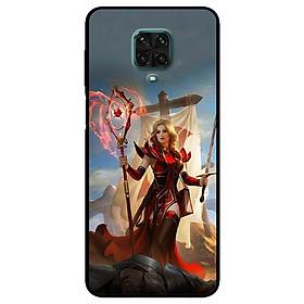 Ốp lưng dành cho Xiaomi Redmi 9s - 9 Pro - 9 Promax mẫu Cô Gái Trượng Đỏ