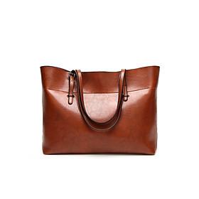 Túi xách nữ công sở bản to chất liệu da trơn không thấm nước
