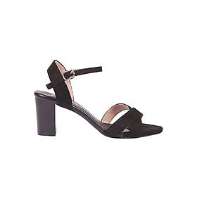 Giày Sandal Cao Gót Đế Vuông Thời Trang Erosska ER012 - Đen