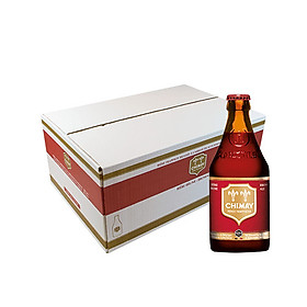Thùng 24 chai bia Chimay Rouge (Red)