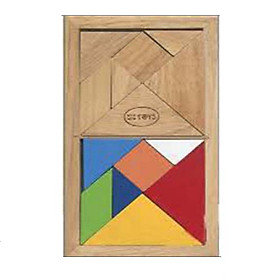 Bộ tangram đôi (trí uẩn) cho bé tư duy logic