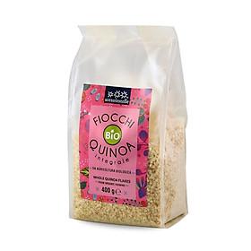 Diêm mạch nguyên cám  hữu cơ cán dẹp Sottolestelle 400g Organic Whole Quinoa Flakes