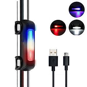 Đèn Led Xe Đạp, Đèn Hậu Cảnh Báo Xe Đạp Gắn Phía Sau Siêu Sáng Có Sạc Điện USB Chống Nước Giúp Đạp Xe An Toàn Ban Đêm 3 Màu Nhiều Chế Độ - Hàng Chính Hãng
