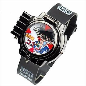 Đồng hồ conan - thám tử lừng danh bắn laser có tấm ngắm bật mở anime đeo tay trẻ em