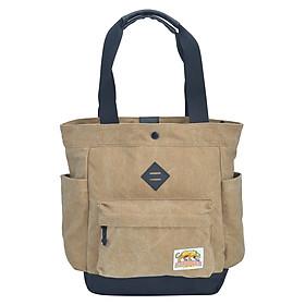 Túi Đeo Vai Tote Bags - Waxed Cotton Stronger Bags S21_5 (37 x 35 cm) - Nâu