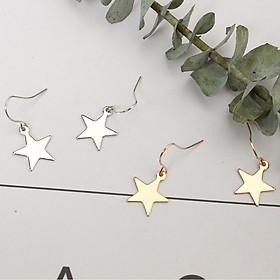 Bông tai nhỏ xinh hình ngôi sao nhiều mẫu màu vàng bạc cá tính năng động dành cho nữ - BT4K TASA khuyên tai bánh bèo