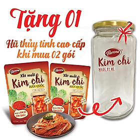 Tặng 1 hũ thủy tinh cao cấp khi mua combo 2 gói Xốt muối Kim Chi Hàn Quốc Barona 180g
