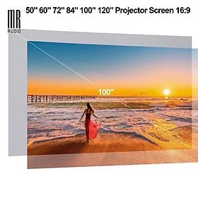 Màn chiếu tương phản 100 inch cho máy chiếu LED, máy chiếu LCD, máy chiếu DLP