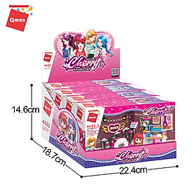 Đồ chơi lắp ráp, xếp hình lego Qman 4102: Bộ Studio cho bé gái - 499 mảnh ghép