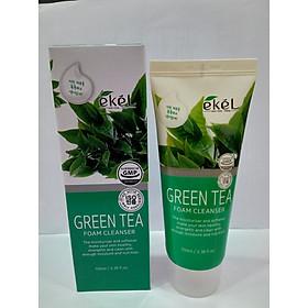 Sữa rửa mặt Trà Xanh - Ekel Foam Cleanser Green Tea 100ml (Tặng 2 mặt nạ Jant Blanc)
