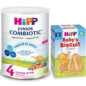 Sữa Công Thức HiPP 4 Junior Combiotic (800g) Tặng 01 Bánh Ăn Dặm HiPP