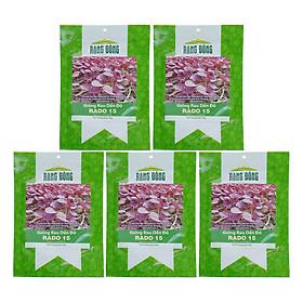 Bộ 5 Túi Hạt Giống Rau Dền Đỏ Rạng Đông (Amaranthus Viridis) (20g/Túi)