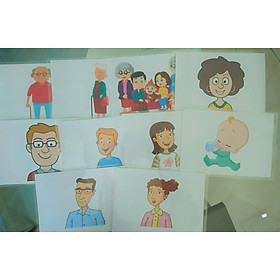Family Flashcards - Bộ thẻ học tiếng Anh chủ đề gia đình - 10 thẻ