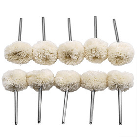 Bộ 10 đầu len đánh bóng chân 3ly (3x25mm) sản phẩm dùng cho máy khoan mài khắc mini