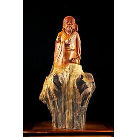 Tượng gỗ mỹ nghệ- Thần trà Lục Vũ- gỗ hương ta Gia Lai, lũi sụn