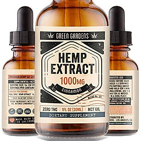 Hemp Oil Extract 1000mg for Anxiety, Pain, Stress Relief - Help with Mood, Sleep, Inflammation, Skin, Hair - 100% Pure Organic Hemp Extract Drops - USA Grown & Made