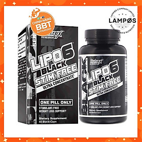 Viên giảm mỡ Lipo-6 Black UC Stim Free - Hỗ trợ giảm cân - 60 liều dùng