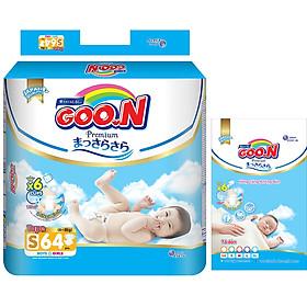 Tã Dán Goo.n Premium Gói Cực Đại S64 (64 Miếng) - Tặng thêm 8 miếng cùng size-0