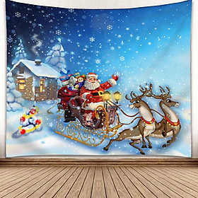 Christmas Series Wall Hanging Tapestry Background Decoration for Home Living Room Bedroom