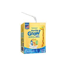 Thùng Sữa Bột Pha Sẵn NUTI NUVITA GROW DIAMOND 110ml - Dành cho trẻ từ 1 tuổi trở lên (48 Hộp x 110ml)