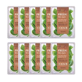 10 Mặt Nạ Tony Moly Fresh To Go Mask Sheet (10 x 22g) - Aloe: Chiết xuất từ lô hội làm dịu nhẹ cho làn da bị tổn thương, bổ sung độ ẩm cho da khỏe và mềm mại