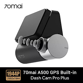 Camera hành trình 70mai Dash Cam Pro Plus , 70mai A500 Quốc tế , Tích hợp sẵn GPS , Cam hành trình xiaomi -Hàng Nhập Khẩu