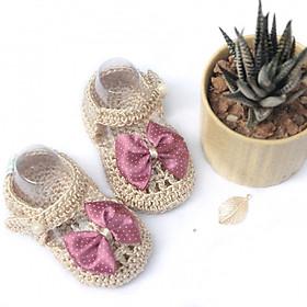 Giày dép bé gái - Xăng đan kem nơ
