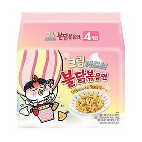 Mì xào Teppanyaki Hàn Quốc hương vị gà cay (gấp đôi sốt bơ trắng) - 560g
