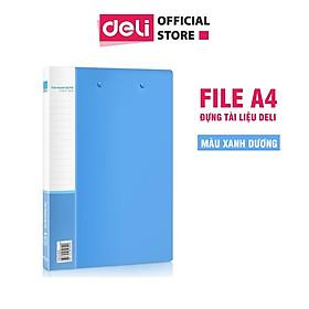 File A4 đựng tài liệu Deli, Xanh da trời - 1 cái - 5309