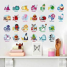 Decal dán tường bảng chữ cái cho bé