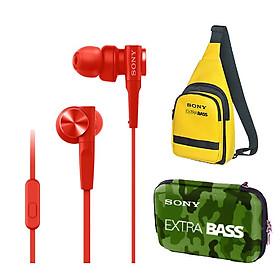Tai nghe Sony ExtraBass MDR-XB55AP + Quà tặng Túi đeo chéo & Hộp đựng phụ kiện Sony - Hàng chính hãng
